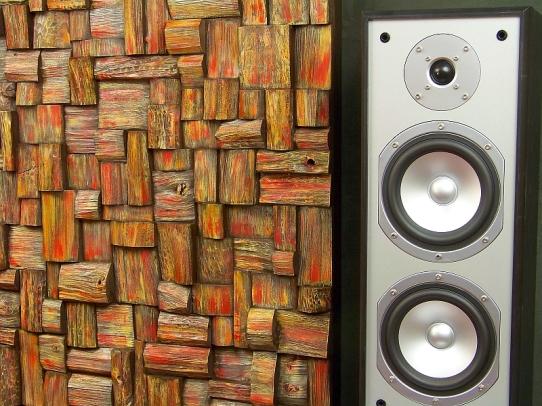 acoustic panels, acoustic treatment, recording studio, home theatre acoustic, wood blocks sound diffusers, music room acoustic, acoustic art