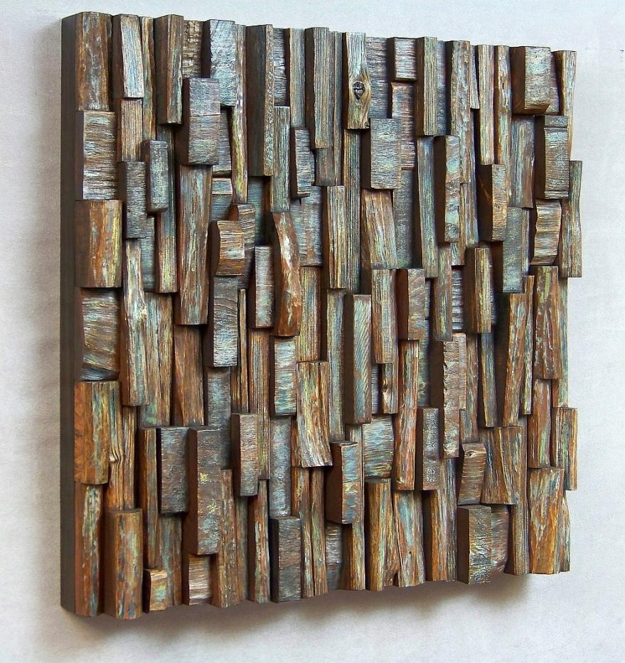 wood wall art, recycled wood art, wood wall sculpture