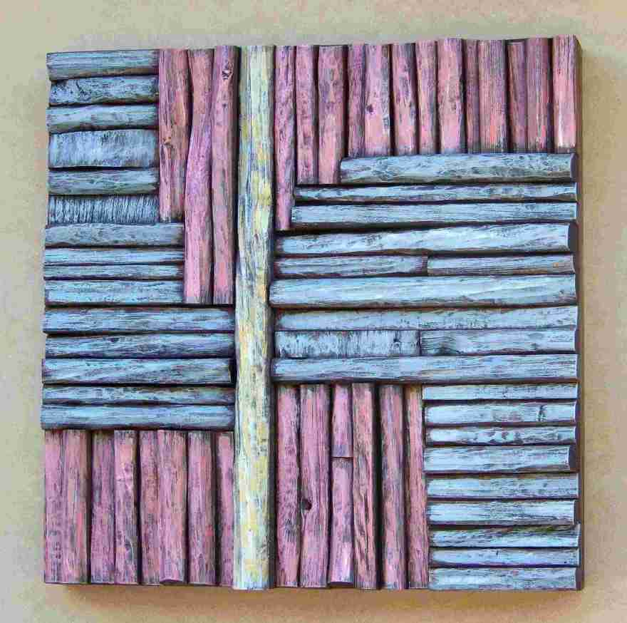 Art of acoustic panel, office art, wooden art, cottage decorating, contemporary wood wall art
