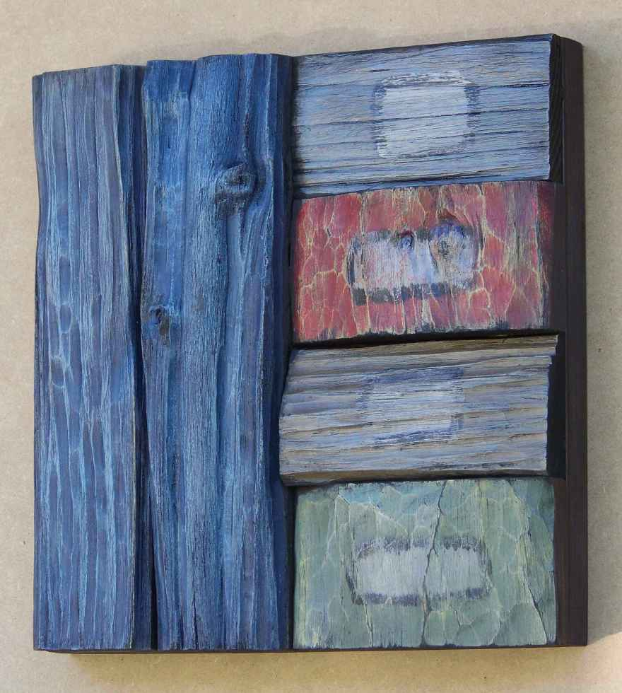 wood art, olga oreshyna art, recycled wood art