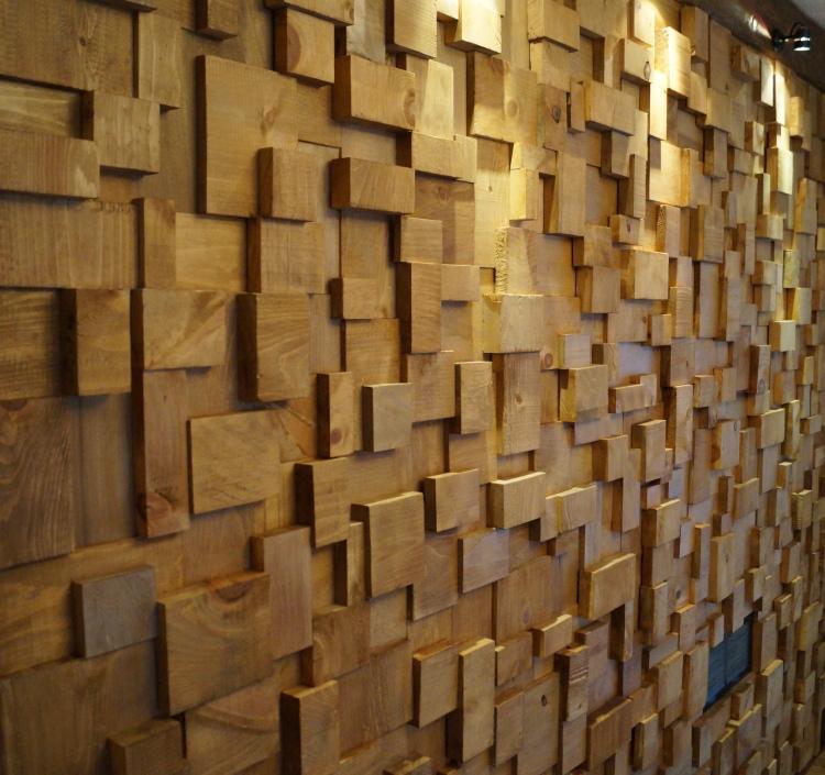 acoustic treatment, acoustic wooden blocks wall, recording studio design