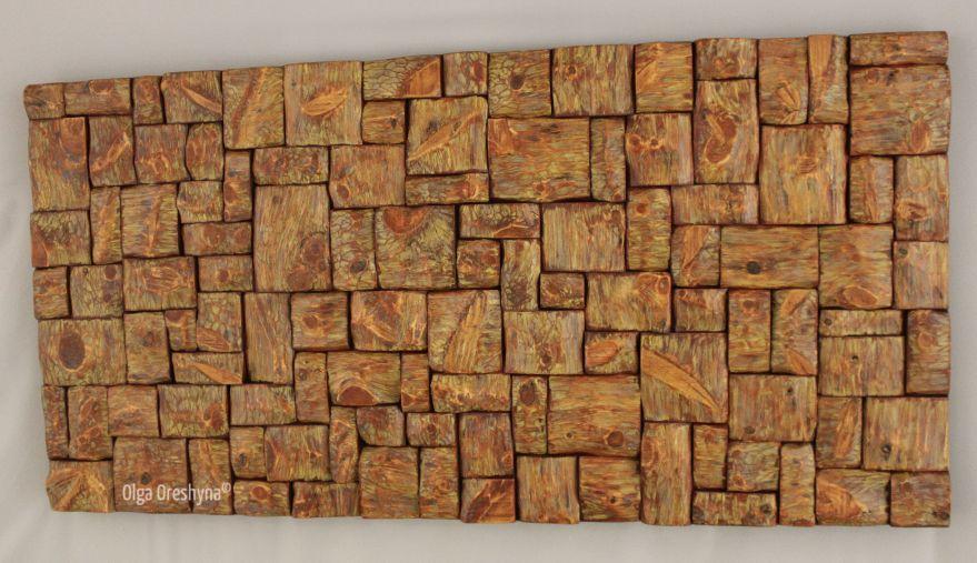 wood art, wood wall sculpture, interior design, home decor, wood blocks sculpture, wood interior