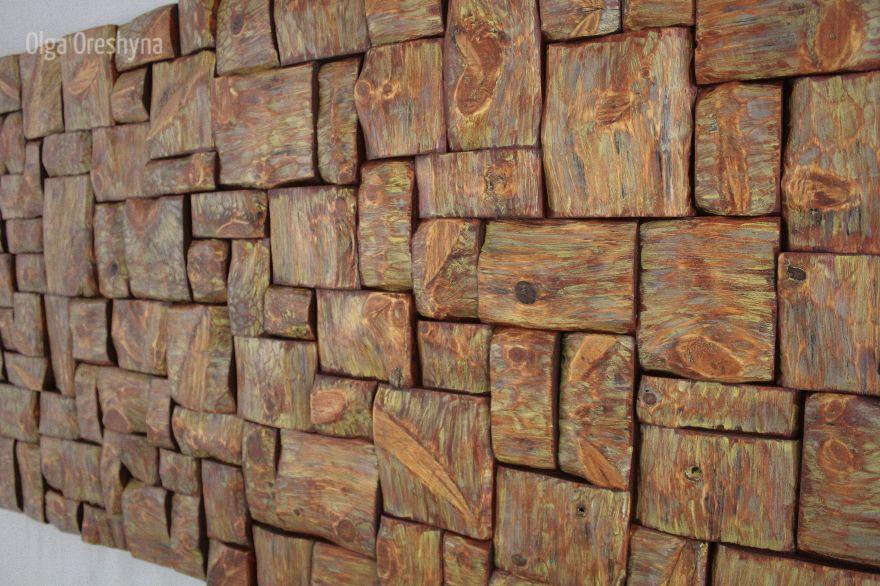 contemporary wooden art, wood wall art ideas, corporate art