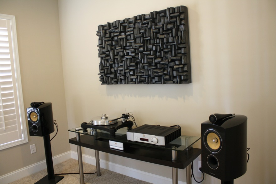 audio room, acoustic treatment, sound diffusers, acoustic panel, wood art acoustic, wood acoustic panel, wood sound diffuser,