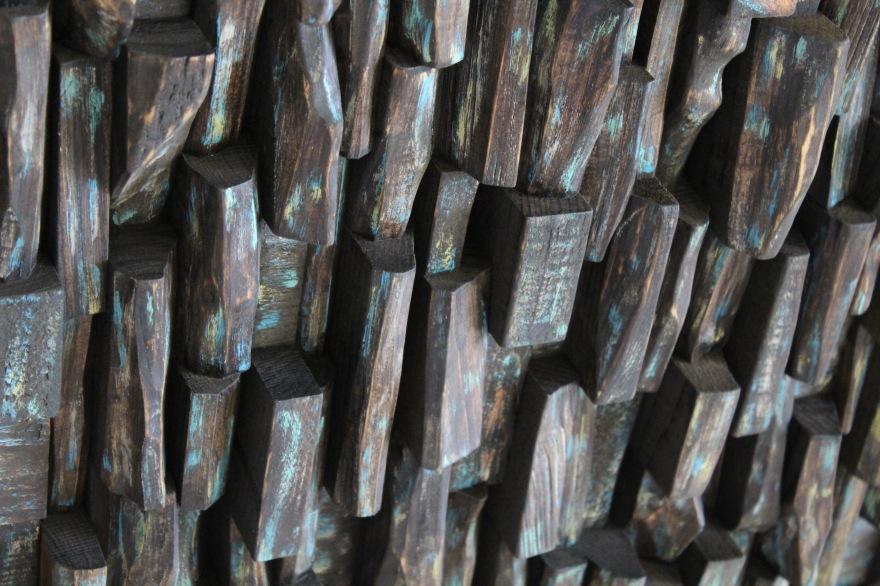 wood art, recycled wood art, contemporary wood art