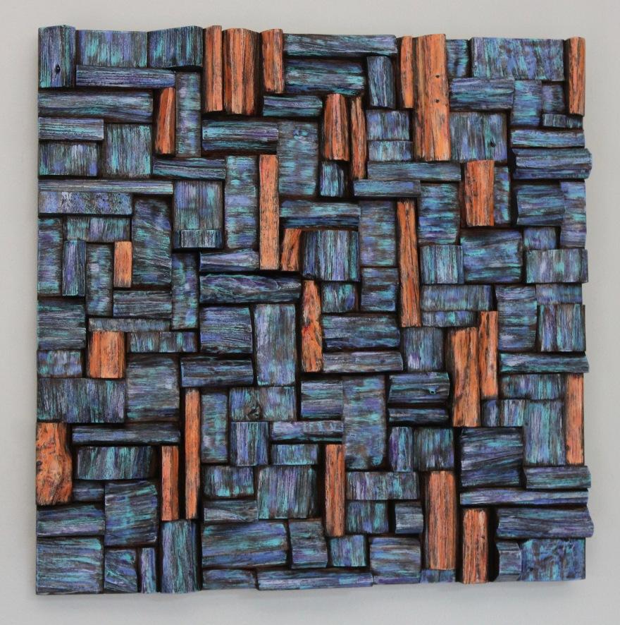 wood art, wood wall art, unique wood art, wood assemblage, wooden blocks panel, corporate art, contemporary wood art, wood wall sculpture, abstract wood sculpture