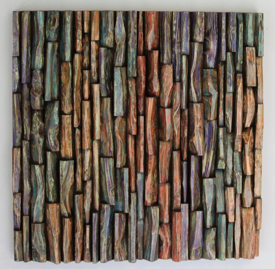 wood art, wood wall sculpture, wood assemblage, wood mosaic, interior design, home decor, cottage art, nature art, zen art, Olga Oreshyna art