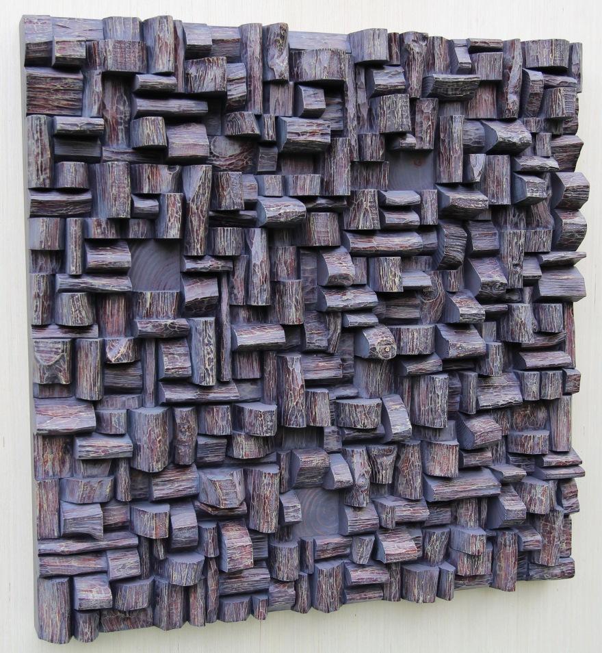 wood wall art, wood blocks assemblage, cottage art, wood interior design, nature art, corporate art,