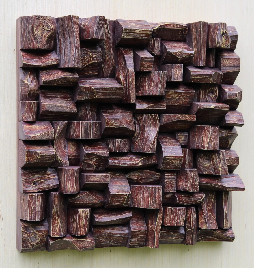 TAVES2017, sound diffuser, acoustic panel, wood assemblage, wood wall art, wood art acoustic, home decor, home theatre acoustic treatment, office art, interior design, hi end acoustic