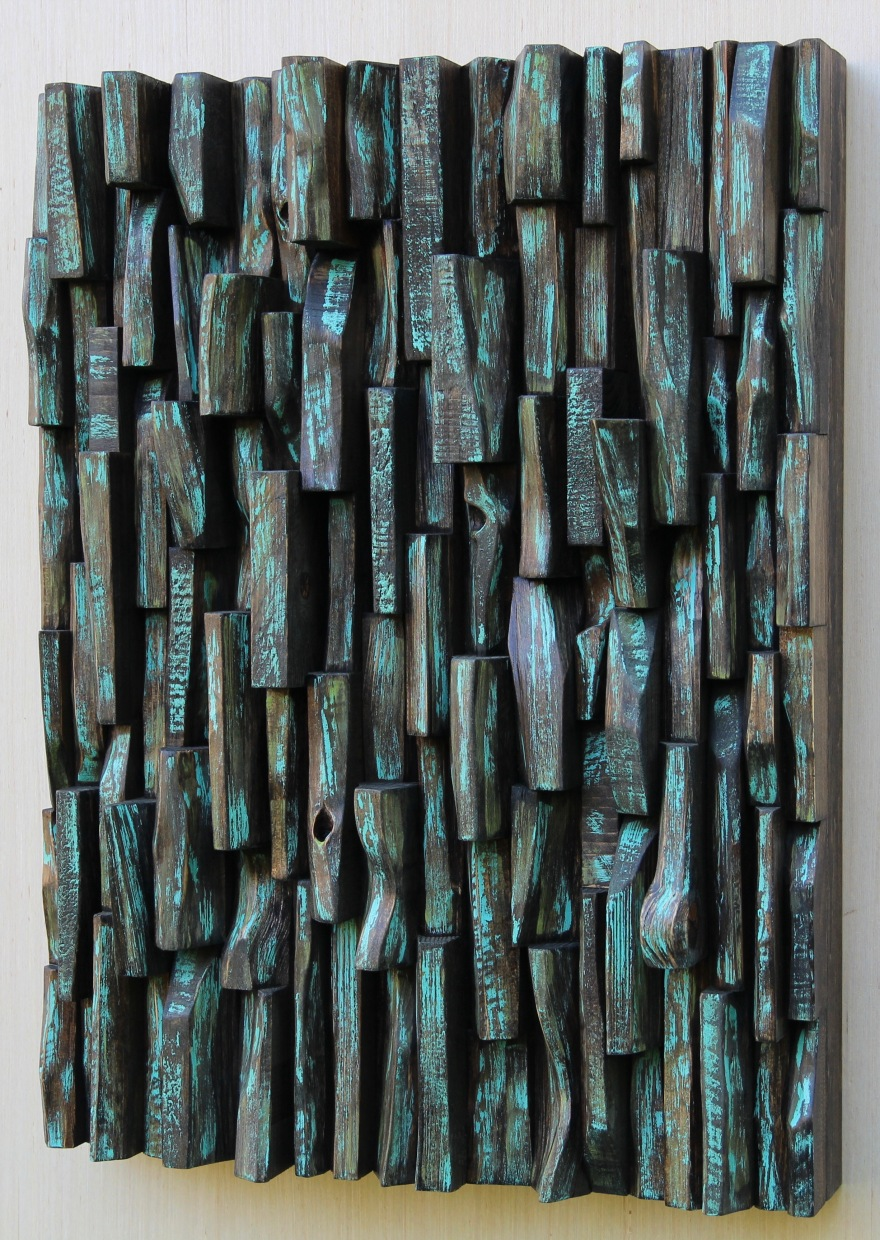 wood art, painting on wood, contemporary wood sculpture, zen art, wood interior design, home decor, wood blocks panel, wood assemblage