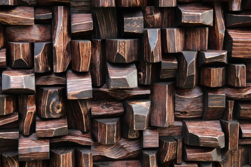 wood art sound diffuser, wood blocks acoustic panel, art diffusive panel, acoustic design, acoustic treatment